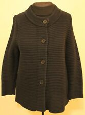 Talbots chunky knit button front cardigan sweater size L