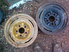 "TWO GM CHEVROLET PONTIAC STEEL OEM WHEELS 14"" X 6"" 1970 1971 JJ N1"