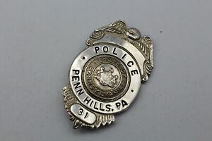 BS358: Polizei Brustanhänger Dienstmarke Police Penn Hihlls PA Nummer 31