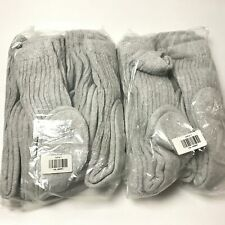 12 Pairs Men/Women Mid Calf Socks Solid Heather Gray Size 9-11 New E33