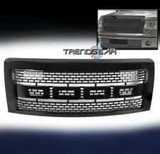 2009-2014 FORD F150 TRUCK RAPTOR STYLE FRONT SPORT MESH GRILLE GRILL SHELL BLACK