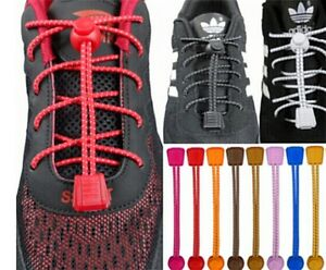 Super Quick Locking Elastic Trainer laces - Quick Release Shoe - 23 Colours