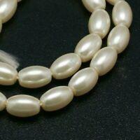 2mm 3mm Oval echt Zuchtperlen Strang Süßwasser Perlen
