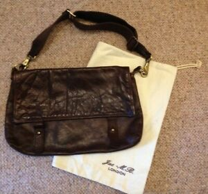 Jas MB London Brown Leather Cross Body/Shoulder Bag - Orig RRP £115