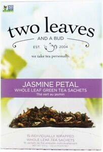 Jasmine Petal Green Tea by Two Leaves And A Bud, 15 tea bag 1 pack