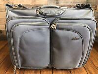 "Garment Bi-Fold SuitCase Samsonite 23"" Gray Wheeled Bag Rolling Travel Luggage"
