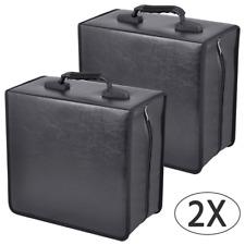 2Pcs 400 Capacity CD/ DVD Wallet Carrying Case Media Organizer Wallet Binder