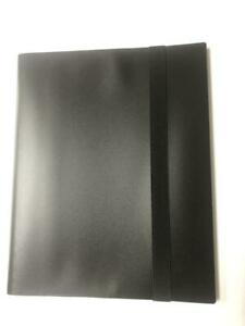 Black 9 POCKET Binder Card Storage Album Folder Side Loading Card 20 Pages