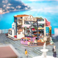 Robotime Miniature Dollhouse Wooden DIY House Kit Gift (CARL'S FRUIT SHOP)