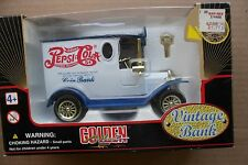PEPSI COLA DELIVERY TRUCK GOLDEN WHEELS DIECAST GIFT BANK SPECIAL EDITION NIB