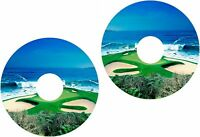 Wheelchair Spoke Guard Skins Golf Fairway Ocean View Mobility Sticker 273