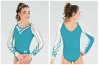GK Elite Raglan Lattice Gymnastics COMPETITIVE LEOTARD Child & Adult Sizes New