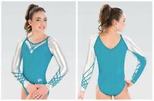 GK Elite Raglan Lattice Gymnastics COMPETITIVE LEOTARD Child & Adult Sizes New