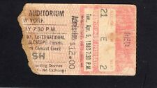 1983 Rush Jon Butcher Axis concert ticket stub Buffalo Signals Tour Tom Sawyer