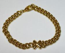 "New Old Stock ANNE KLEIN Goldtone Polished Letter X Chain Shape 7 1/4"" Bracelet"