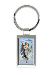 Gift Keychain : Sao Gabriel Arcanjo Católica Católico Anjo Angel Religiosa