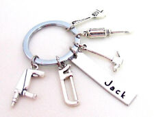 Hand Tools Keychain Gift for Mechanic Gift for father Gift for Uncle Tools Charm