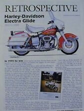 Harley-Davidson Electra Glide Motorcycle Retro Article 1965 To 2000