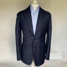 Immaculate Steed of Saville Row Navy Suit With Silk Lining