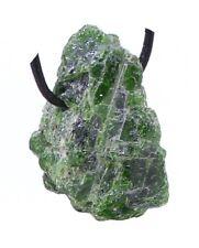 Chromdiopsid Rohstück gebohrt, grüner Diopsid Anhänger Rohkristall - Einzelstück