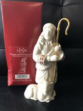 Lenox China Jewels Nativity Shepherd with Staff Figurine Lamb Christmas w/box.~