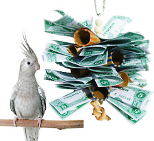 1018 MONEY STACK BIRD TOY parrot cage toys cages cockatiel conure african grey