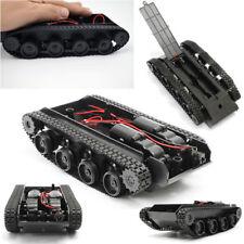 Negro Smart Robot Tanque 3V-7V Chasis Kit de Coche Goma Track Oruga para Arduino