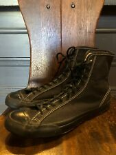 Vintage 1940's Converse Shoes Black Size 9.5 New Old Stock