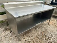 """Heavy Duty 72"""" x 29.5"""" Commercial Stainless Steel Kitchen Work Table Cabinet"""