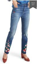 Madewell Women Rose Embroidered High Waist Slim BOYFRIEND Jeans - 27