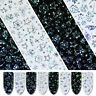 Nail Foils Stickers Starry Sky Holo Christmas Theme Nail Art Stickers Decals Tip