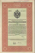 5. Österreichische Kriegsanleihe zu 1000 Kronen aus 1916