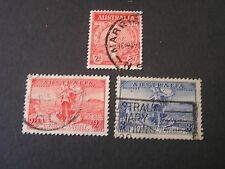 *Australia, Scott # 150+157/158(2).1935-36 2-Complete Sets Various Issues Used