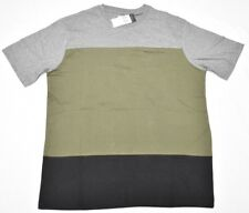 $36 NWT NEW Mens Sean John T-Shirt Colorblock Tee Grey Olive Black Urban N647