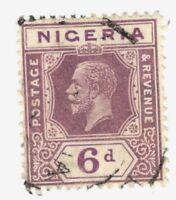 1914 Nigeria SC #28 KGV used stamp