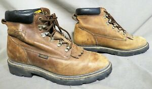MENS ARIAT BROWN LEATHER HIKING FARM WORK BOOTS US SIZE 10 D