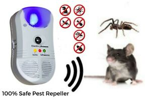 Ultrasonic Ionic Electromagnetic 5in1 Repeller Pest Rat Mice Mouse Insect Rodent
