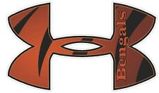 """Under Armour Cincinnati Bengals Football Truck/Window Decal Sticker - 11.5"""" x 7"""""""