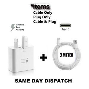 Genuine Samsung Fast Charger & 3M Type-C USB Samsung Galaxy S20 FE 5G Lot