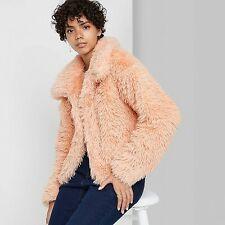 Women's Faux Fur Jacket - Wild Fable Blush Pink XL