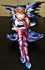 New listing Ebros Pretty Ballerina Blue Bookworm shelf sitting fairy collectable fantacy