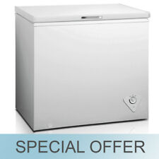 midea 7 cubic ft single door chest freezer designed for easy cleaning white