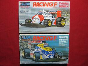 Ayrton Senna McLaren Honda MP4/4 + Nigel Mansell Williams Fujimi Motorized Kit