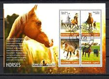 Chevaux Ouganda (52) série complète de 4 timbres oblitérés