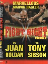 MARVIN HAGLER VS JUAN ROLDAN & TONY SIBSON BOXING DVD -ON SPECIAL