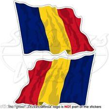 Tschad wehende flagge tschadischen zentralafrika fahne 75mm autocollant aufkleber x2