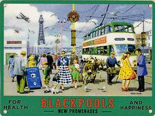 New 30x40cm Blackpool Promenade Tram reproduction large metal advertising sign