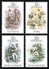 Australia Sc# 780 - 783 = 1981 Gold Rush Scenes = Mint Xf Nh
