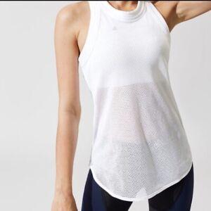 ADIDAS by STELLA McCARTNEY Women's Mesh Tank Top White~Size MEDIUM to LARGE