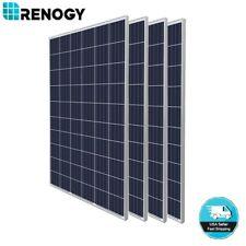 New Renogy 4pcs 270W 24V Poly Solar Panel 1000 Watt 1000W PV Power Sliver Frame